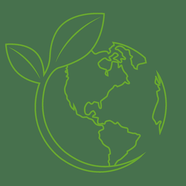 Ikona globu i rośliny - Farba antysmogowa KNOxOUT
