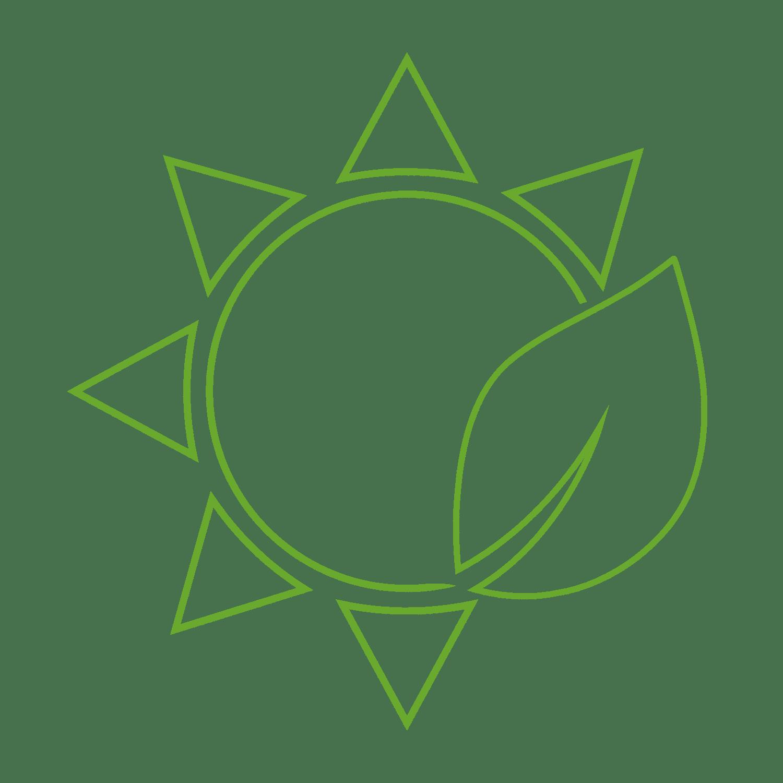 Ikona słońca i liścia - Farba antysmogowa KNOxOUT