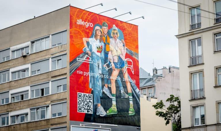 Warszawa Nowy mural Allegro