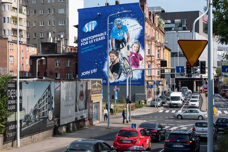 Antysmogowy mural Sii Polska w Katowicach