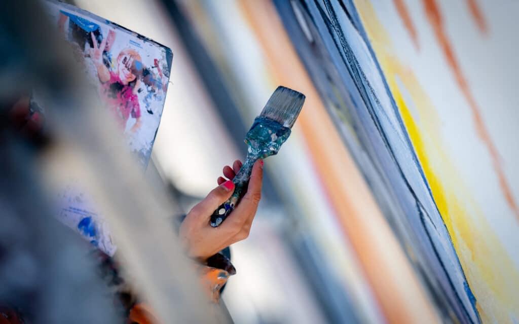 Malujemy Murale farbą KNOxOUT, która czyści powietrze
